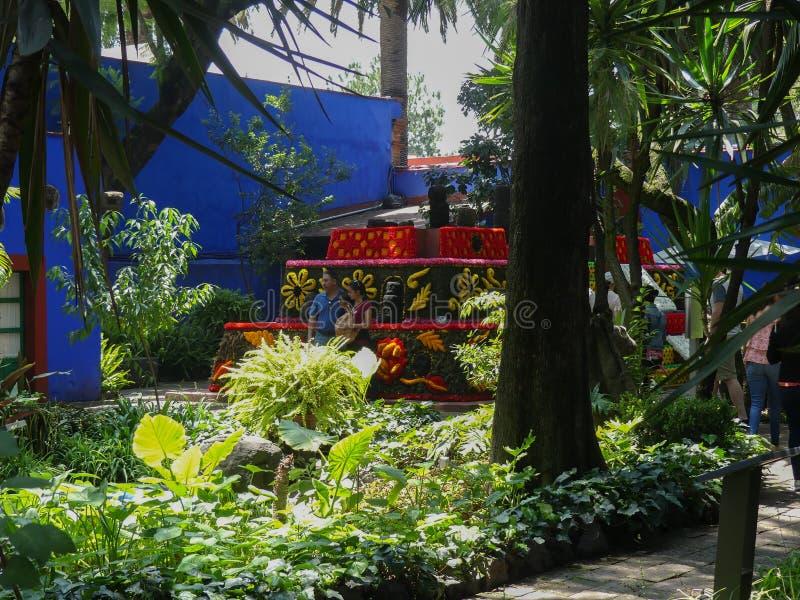 Shrine at Frida Kahlo`s house stock image