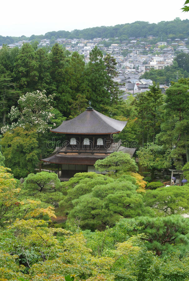 Download Shrine at Ginkakuji temple stock photo. Image of roof - 33648562