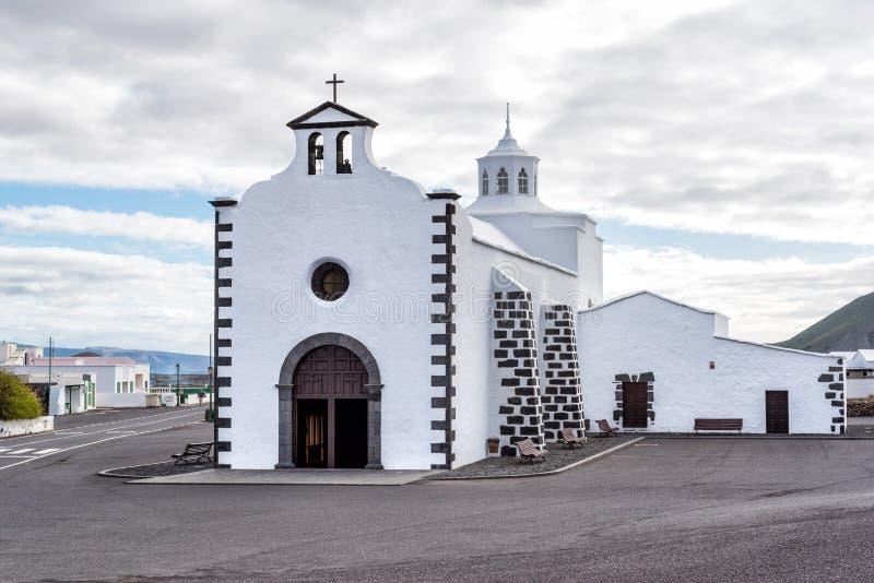 Shrine of La Ermita de Los Dolores Mancha Blanca Lanzarote stock photography