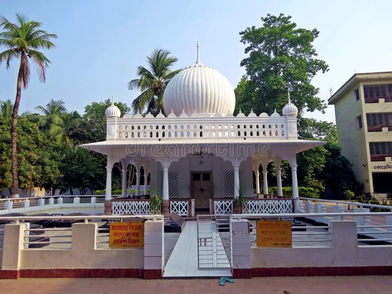 Shrine of Lalon Shah, Kushtia, Bangladesh. Onion domed shrine of poet and musician Lalon Shah, Kushtia, Bangladesh royalty free stock photos