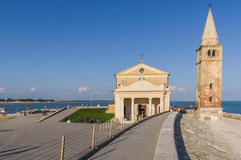 The Shrine of Our lady of the Angel in Caorle stock photography