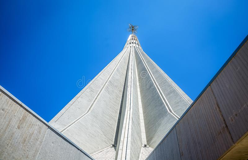 Shrine of our Lady of Tears, Syracuse Sicily. Modern Cathedral design royalty free stock photos