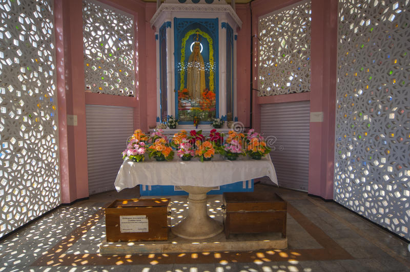 Shrine outside Santa Cruz Cathedral Basilica Church in Cochin In. Dia royalty free stock images