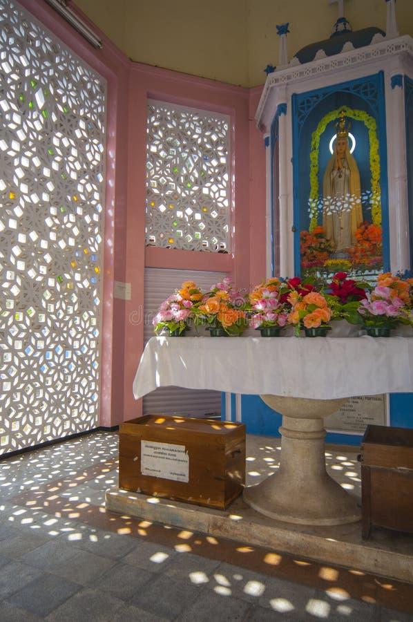 Shrine outside Santa Cruz Cathedral Basilica Church in Cochin In. Dia stock photos