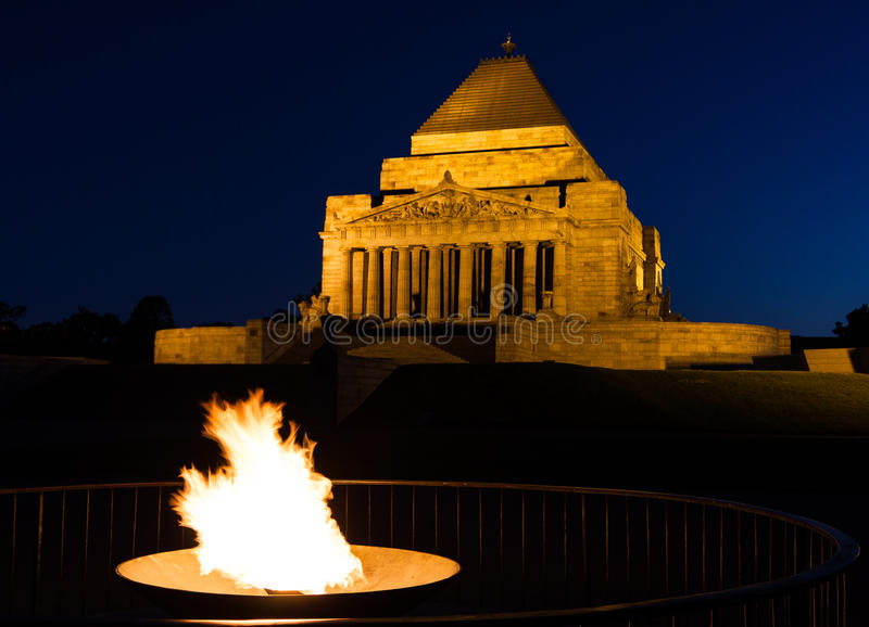 The Shrine of Remembrance stock photography