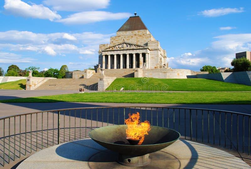 Shrine of Remembrance Melbourne stock image