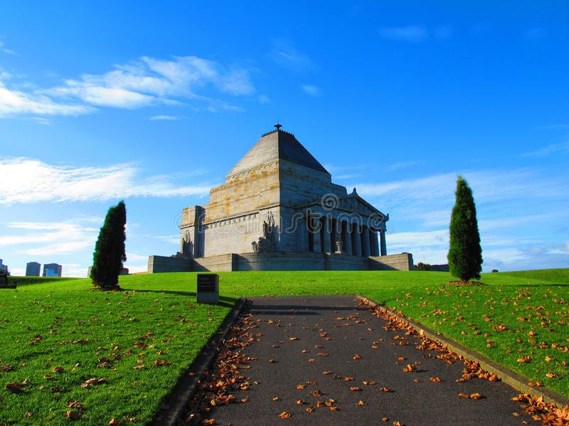 Shrine of Remembrance Melbourne royalty free stock photo
