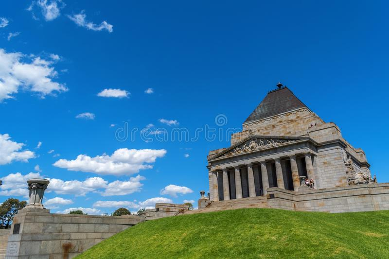 Shrine of remembrance, war memorial 1 royalty free stock images