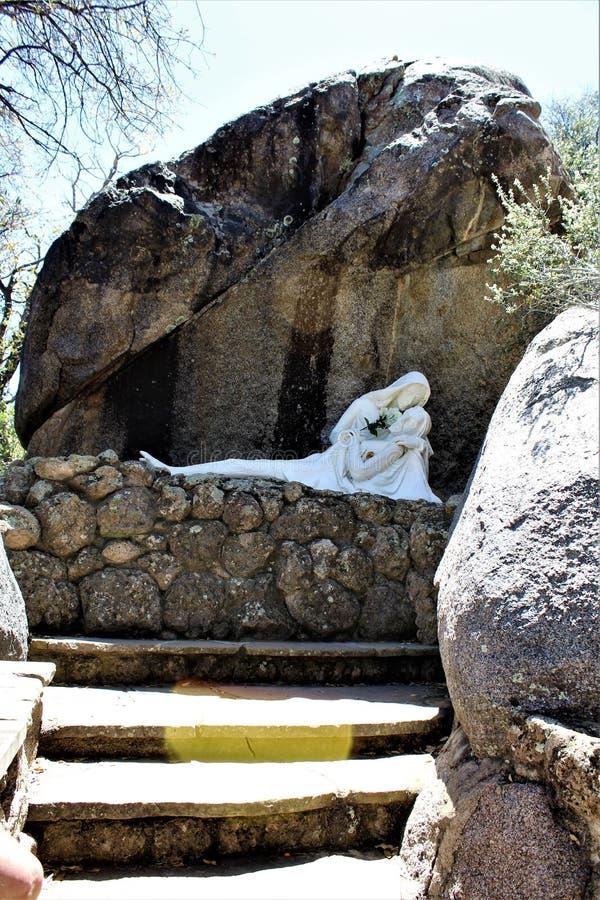 The Shrine of Saint Joseph of the Mountains, Yarnell, Arizona, United States. Statue at The Shrine of Saint Joseph of the Mountains located in Yarnell, Arizona royalty free stock image