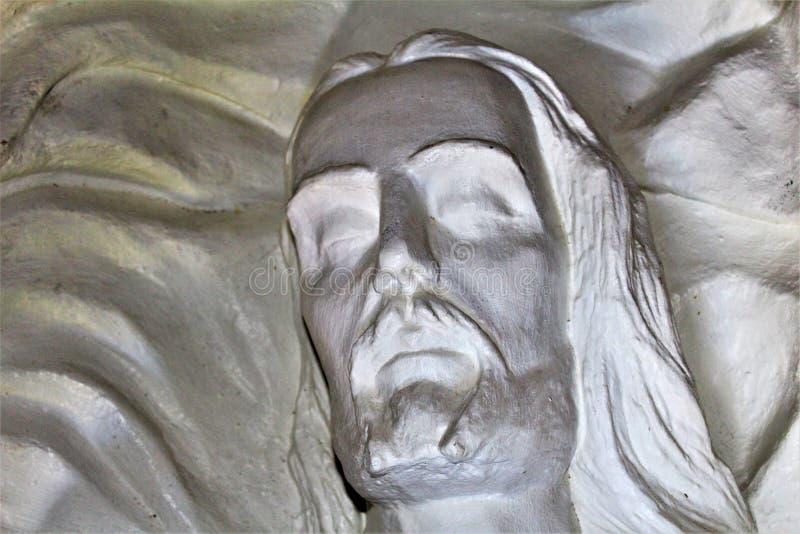 The Shrine of Saint Joseph of the Mountains, Yarnell, Arizona, United States. Statue at The Shrine of Saint Joseph of the Mountains located in Yarnell, Arizona royalty free stock photo