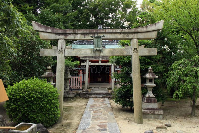A shrine at the Sanjusangendo Temple in Kyoto, Japan. Pic was taken in August 2017 royalty free stock images