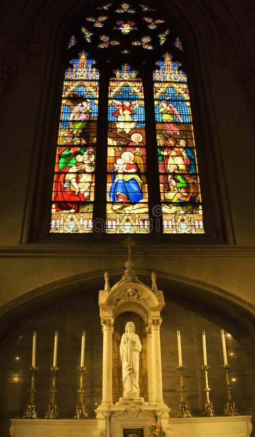 Download Shrine Stained Glass St. Patrick's Cathedral Stock Image - Image of magi, jesus: 6247957