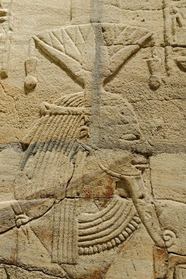 Shrine of Taharqa. Detail of Taharqa shrine taken in the Ashmolean museum, oxford, london stock photo