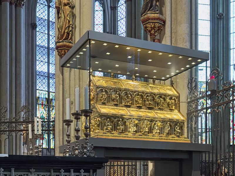 Shrine of the Three Kings in Cologne Cathedral, Germany royalty free stock photos