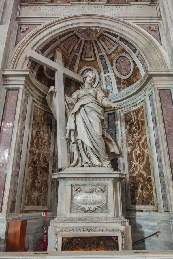 Shrine to Saint Helena. In St. Peter's Basilica royalty free stock photo