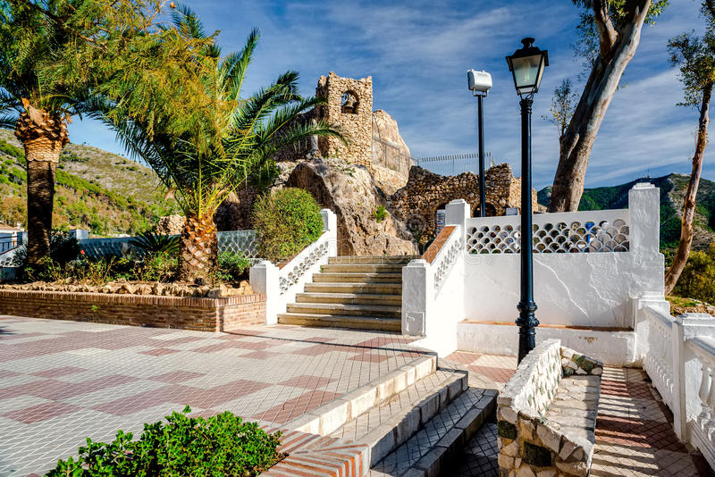 Shrine to the Virgin of the Rock in Mijas royalty free stock image