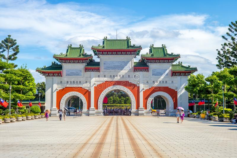 National Revolutionary Martyrs Shrine in Taipei. The shrine was built to honour the fallen Kuomintang soldiers after the Chinese Civil War and subsequent royalty free stock photography