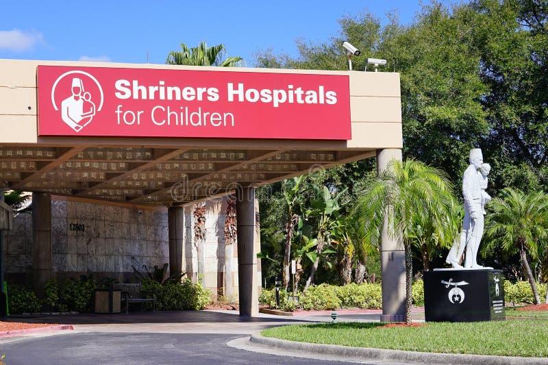 Shriners szpitale dla dzieci zdjęcie stock