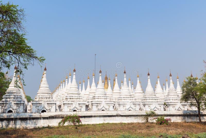 Shrines at the Sandamuni Pagoda in Mandalay royalty free stock photos