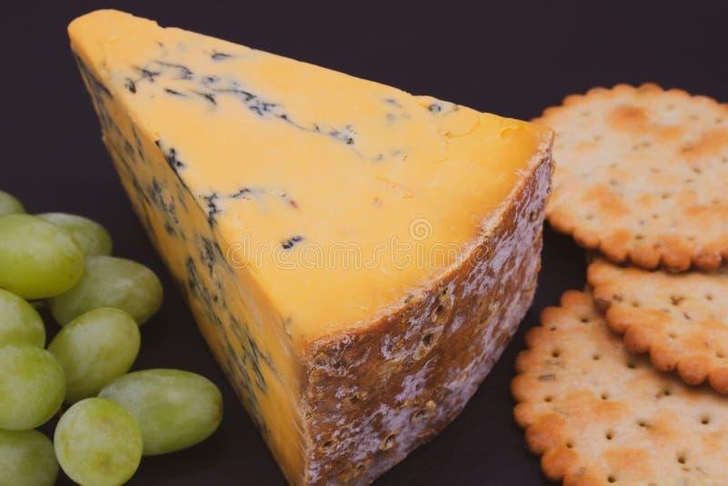 Shropshire Błękitnego sera miejscowego jedzenie fotografia stock