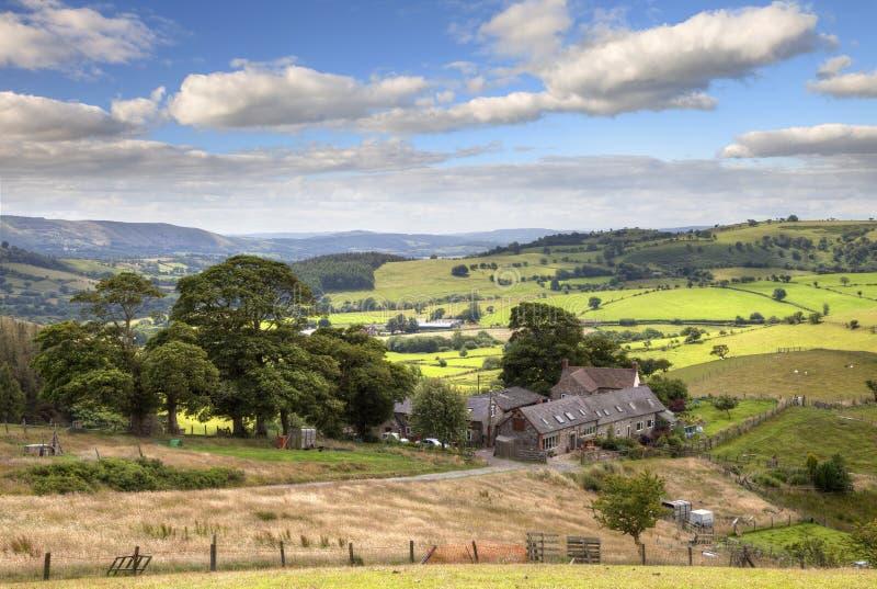Shropshire farm, England stock photo