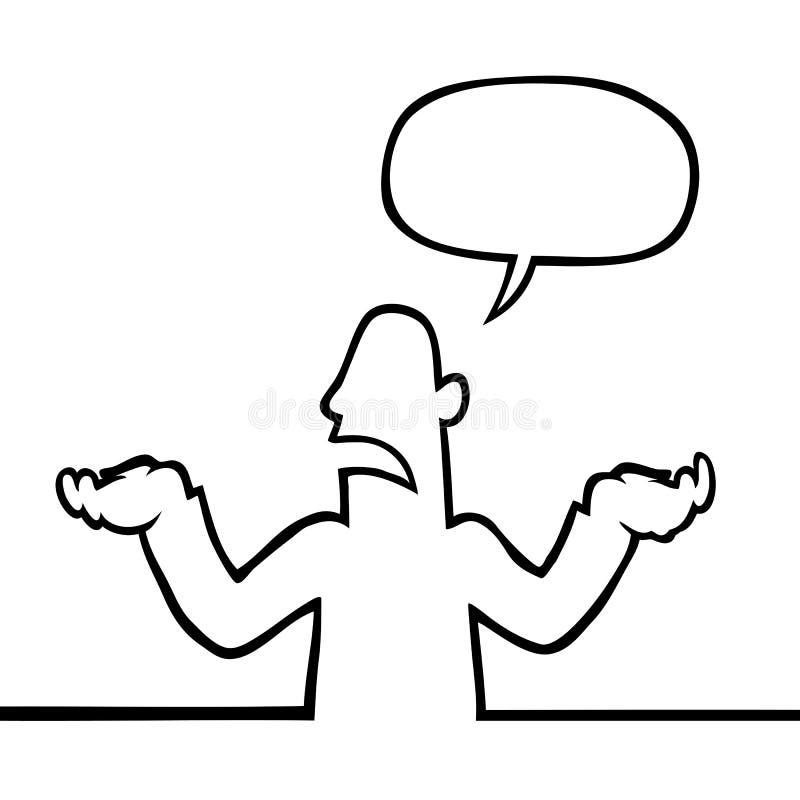 Shrugging da pessoa ilustração stock