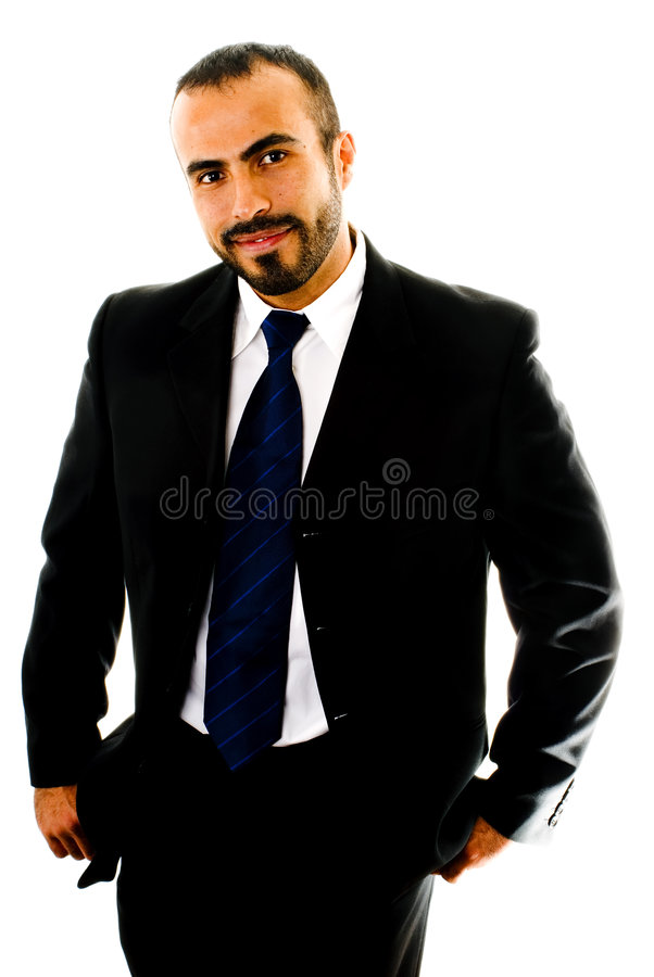 Shrugging Suit Guy. This image shows a boyish looking Hispanic Man wearing a suit shrugging royalty free stock photography