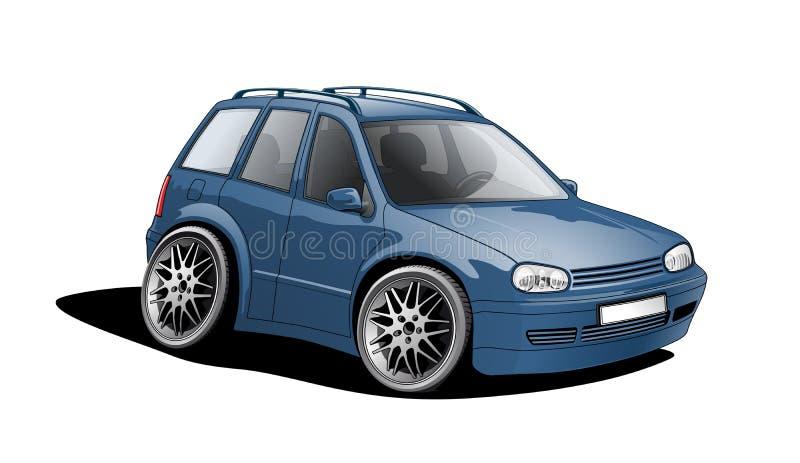 Shrunken car royalty free stock image