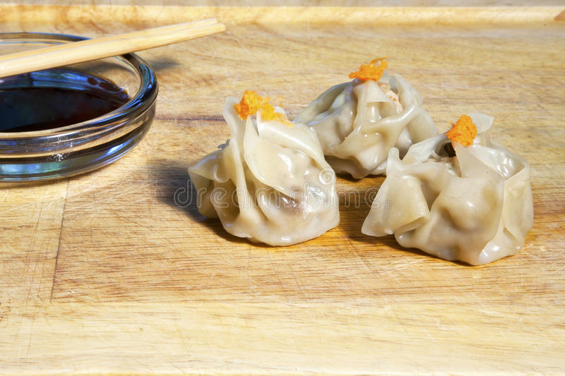 Shu Mai Dumplings Stock Photos