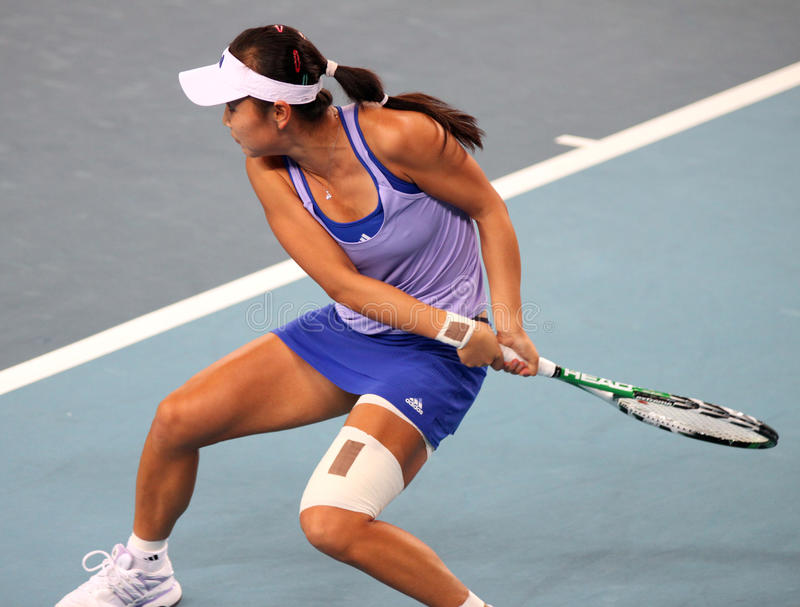 Shuai Peng (Chine), joueur de tennis photos stock