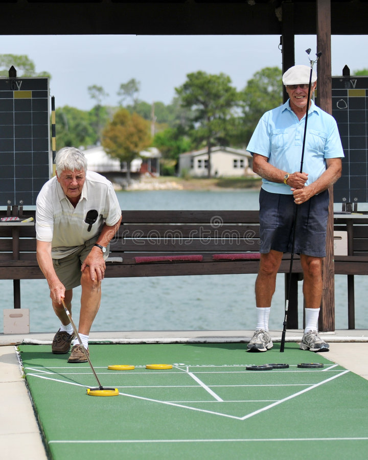 Shuffleboard Competition royalty free stock photos