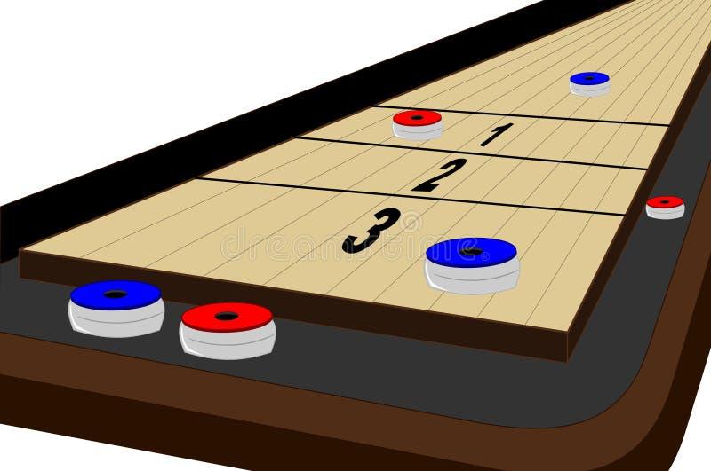 shuffleboard stół ilustracji