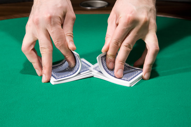Download Shuffling cards stock photo. Image of play, felt, game - 8817886