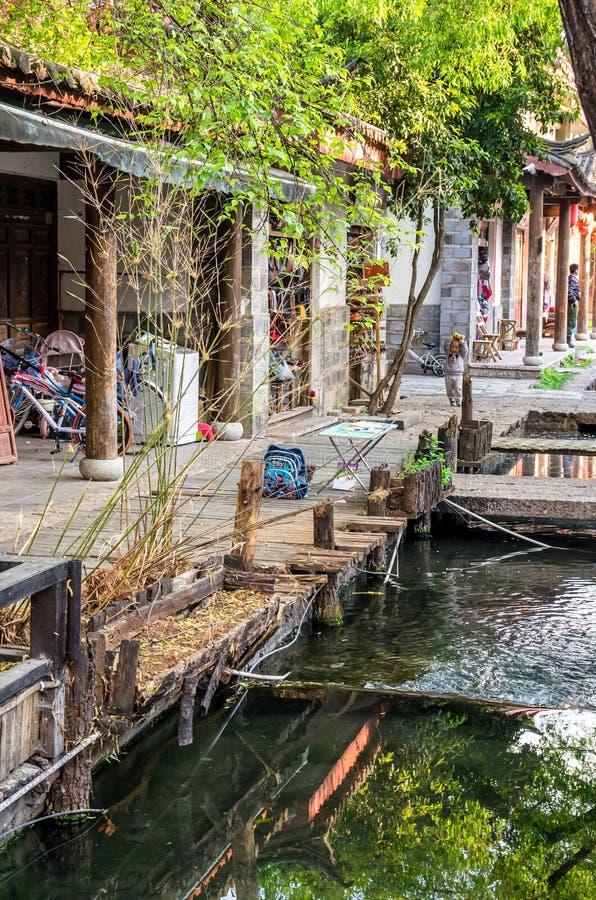 Shuhe Antyczny miasteczko jest jeden starzy siedliska Lijiang i konserwujący miasteczko na Antycznej Herbacianej trasie zdjęcia royalty free