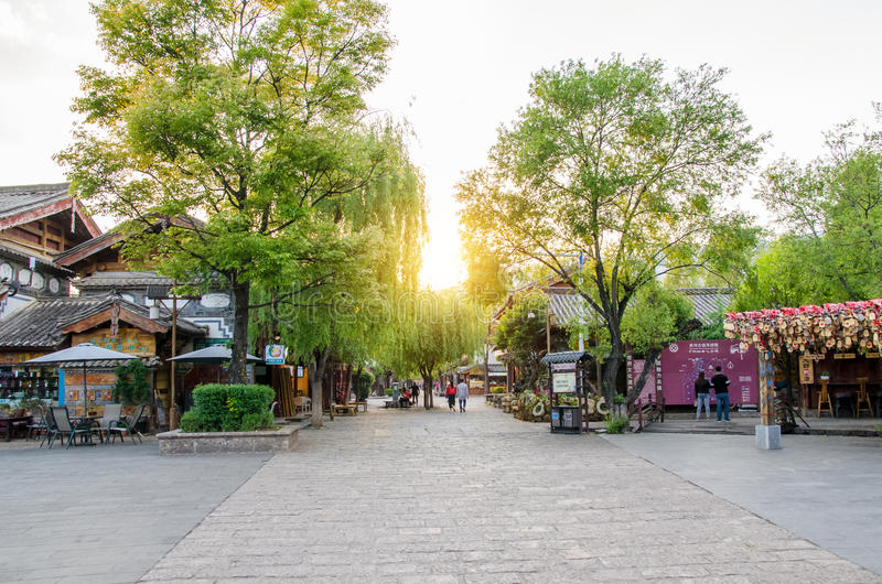 Shuhe Antyczny miasteczko jest jeden starzy siedliska Lijiang i konserwujący miasteczko na Antycznej Herbacianej trasie obraz stock