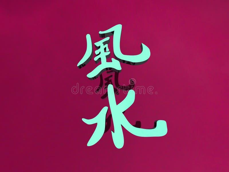Shui de Feng illustration de vecteur
