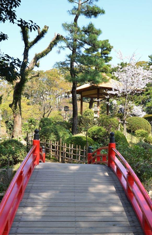 Shukkeien Garden in Central Hiroshima. Bridge at Shukkeien Garden in Central Hiroshima stock images