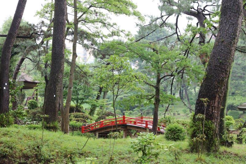 Shukkeien, jardín en Hiroshima, Japón imagen de archivo libre de regalías
