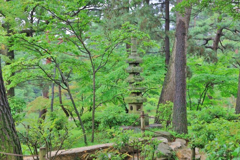 Shukkeien, tuin in Hiroshima, Japan royalty-vrije stock fotografie