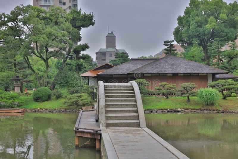 Shukkeien, tuin in Hiroshima, Japan stock afbeeldingen