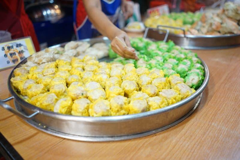 Shumai no alimento da rua fotografia de stock royalty free