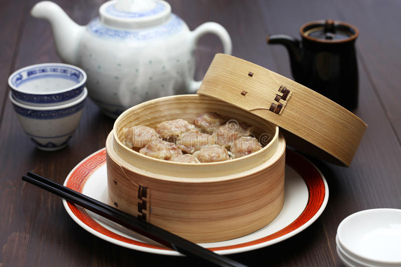 Shumai, shaomai, Chinees voedsel royalty-vrije stock afbeelding