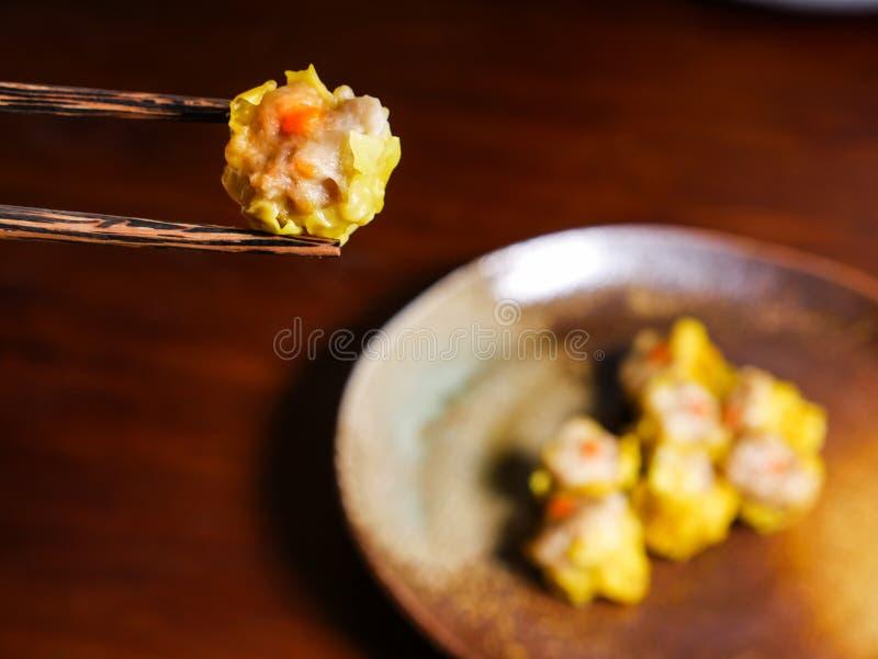 Shumai una comida china de las bolas de masa hervida de Dim Sum foto de archivo libre de regalías