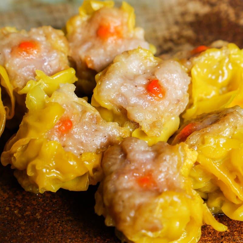 Shumai una comida china de las bolas de masa hervida de Dim Sum fotografía de archivo