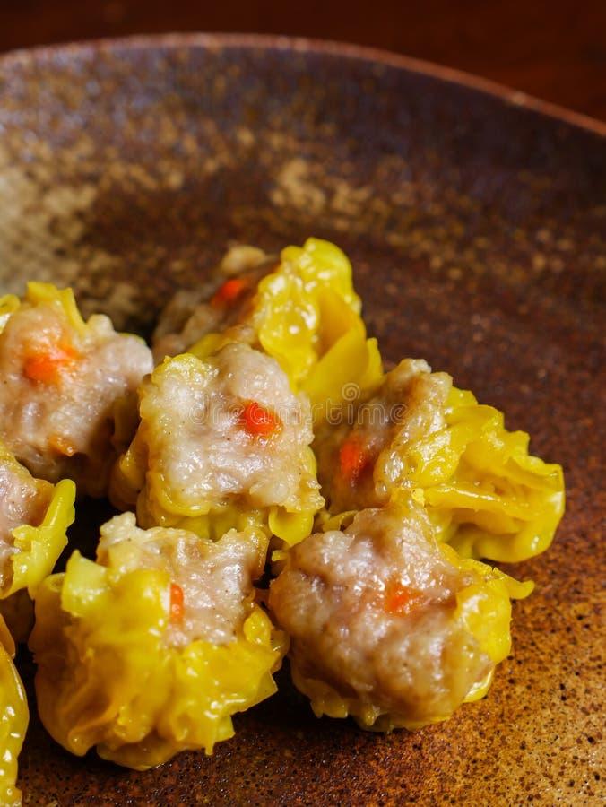 Shumai una comida china de las bolas de masa hervida de Dim Sum fotos de archivo libres de regalías