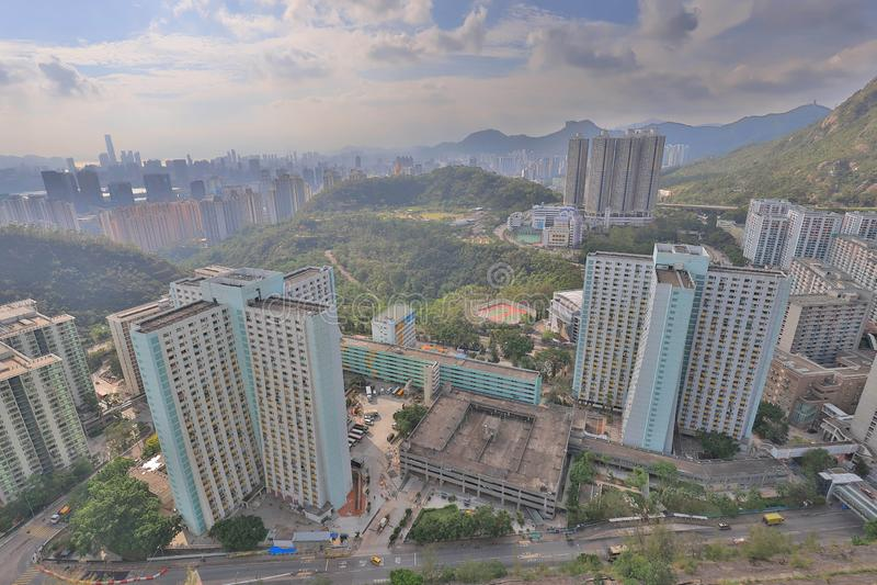 A Shun Lee district at kwun tong. The Shun Lee district at kwun tong stock image