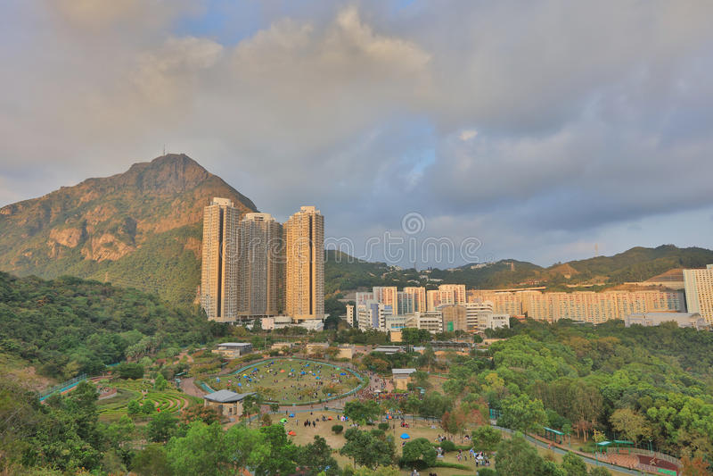 Shun Lee district, kwun tong. The Shun Lee district, kwun tong at 2016 stock photo