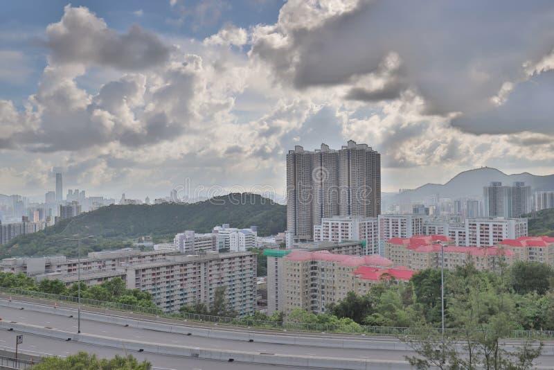 A Shun Lee district kwun tong at hong kong. The Shun Lee district kwun tong at hong kong royalty free stock photo