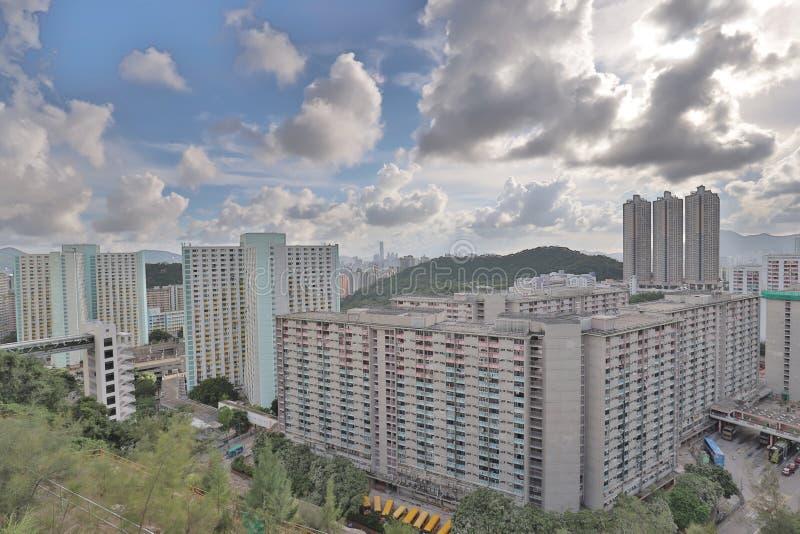 A Shun Lee district kwun tong at hong kong. The Shun Lee district kwun tong at hong kong stock photos
