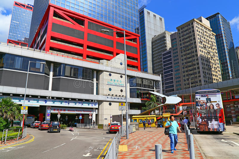 Shun tak centre macau ferry terminal. Shun tak centre is a commercial & transport complex located in sheung wan, the norther part of hong kong island. it is also stock photography